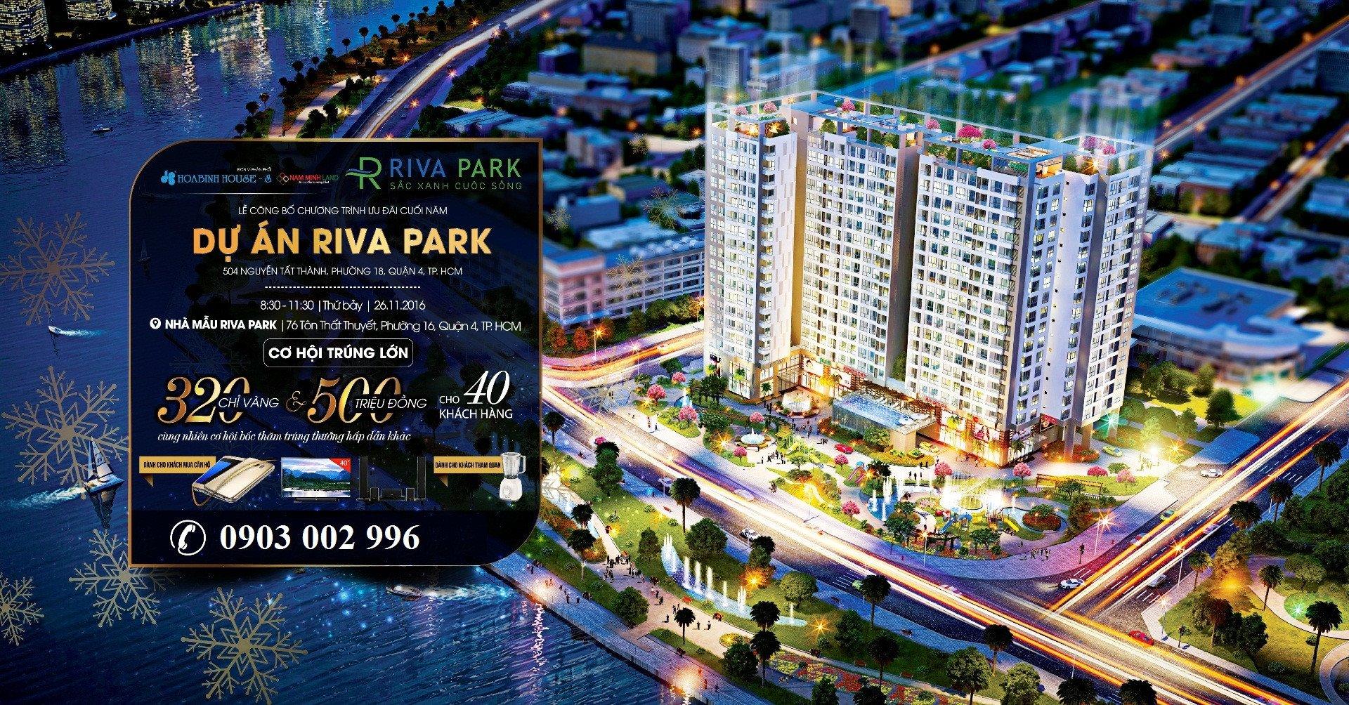 Bán căn hộ Riva Park Q4 - Chỉ TT 30% nhận nhà T7/2017, giao toàn bộ nội thất đầy đủ cao cấp