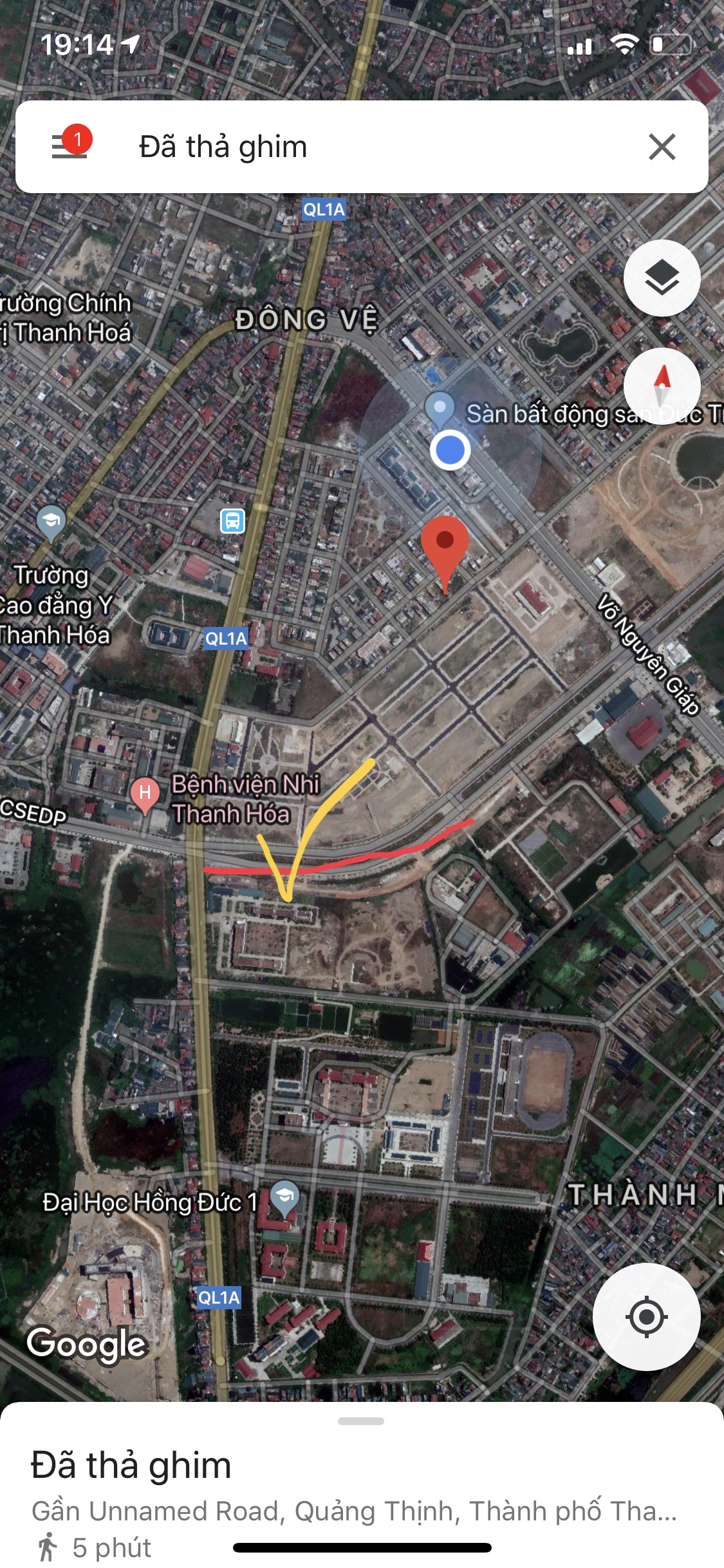 Bán đất mặt đường Csedp rộng 42m đối diện viện nhi Thanh Hoá
