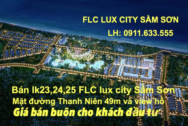 Bán LK9 dự án FLC Lux City Sầm Sơn Thanh Hóa, thuộc khu phố nướng giáp Vạn Chài Resort