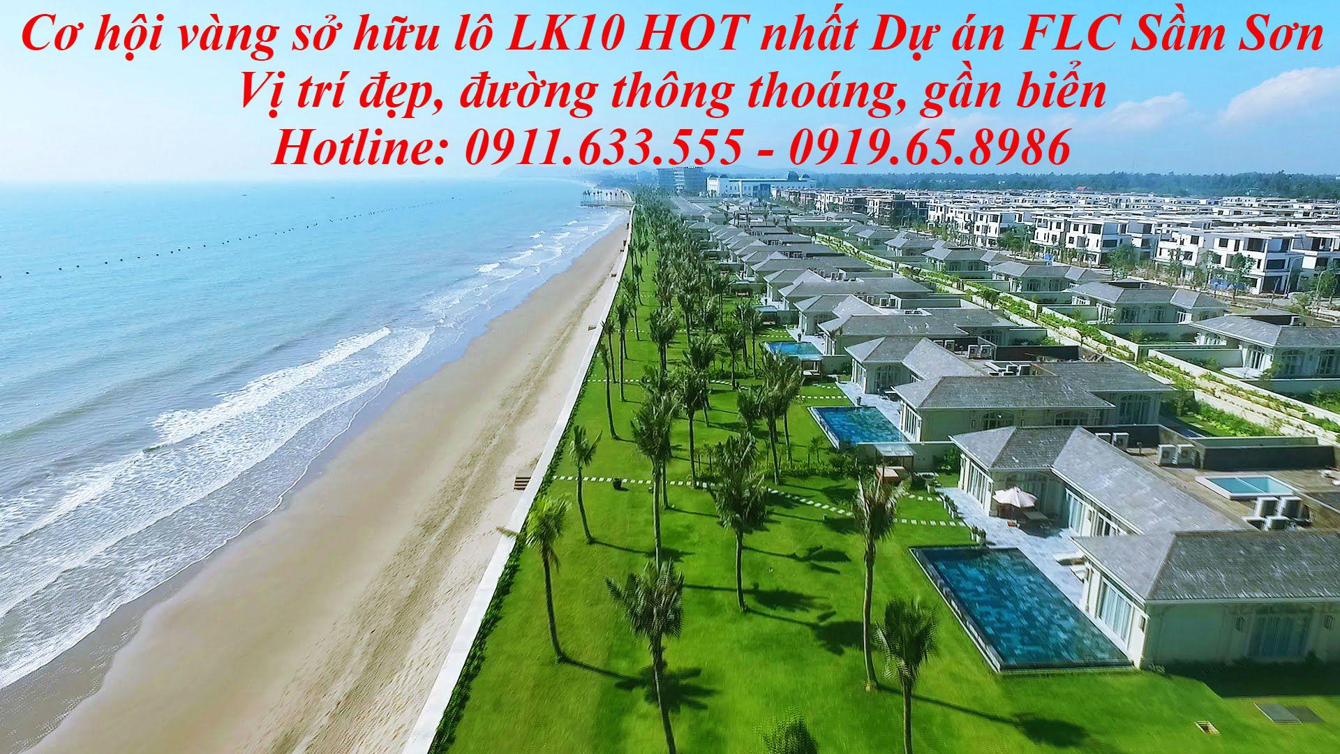 Bán đất LK 10 dự  án FLC Luxcity Sầm Sơn Thanh Hóa