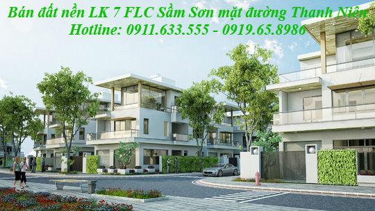 Bán đất LK7  FLC Lux City Sầm Sơn Thanh Hóa - Mặt đường Thanh Niên