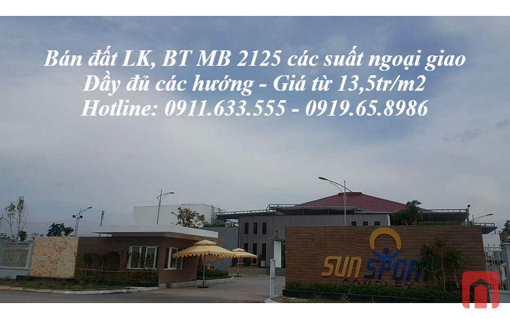 Bán đất MB2125 phường Đông Vệ TP Thanh Hoá suất ngoại giao đầy đủ các hướng giá từ 13,5tr/m2
