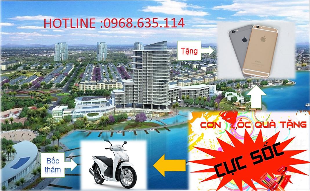 Tặng Iphone 7  và cơ hội trúng SH khi mua đất tại khu đô thị sinh thái sông hồng giá ưu đãi