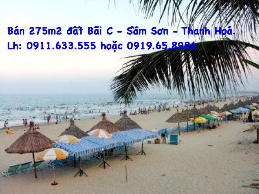 Bán 275m2 bãi C để xây khách sạn, tp Sầm Sơn, cách biển 50m