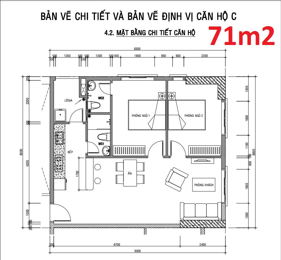 Bán căn hộ IDICO block C góc 71m2 tầng 14 view Đầm Sen T12/2017 nhận nhà , bán 1,69 tỷ (có VAT)
