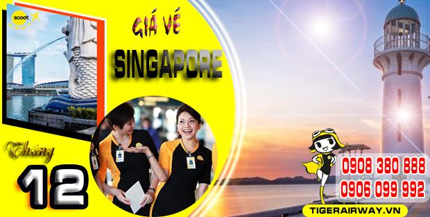 Cập nhật giá vé máy bay đi Singapore tháng 12