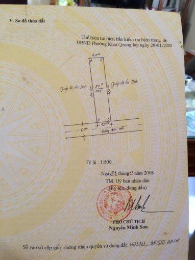 Bán 224m2 đất gần nhà hàng Lục Nam - Khai Quang - Vĩnh Yên giá 3,2tr/m2, LH: 0986454393